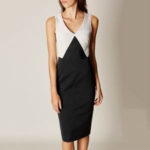 karen millen • tri-tone colorbock pencil dress